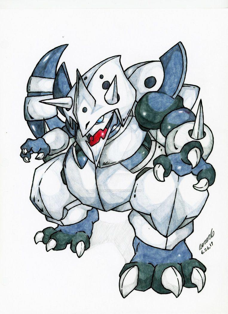 Mega Aggron by DeltaFang8521