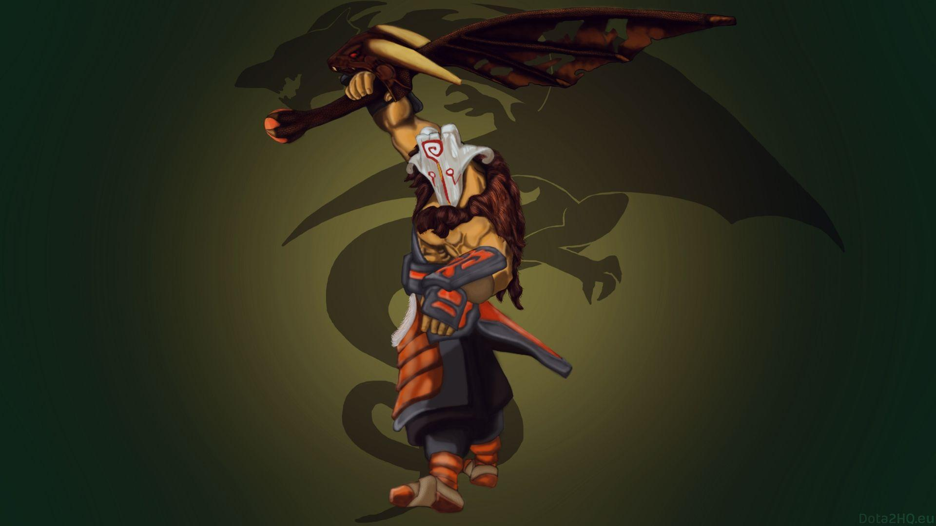 Juggernaut with Dragon Sharp Wing Blade - DOTA 2 Wallpapers