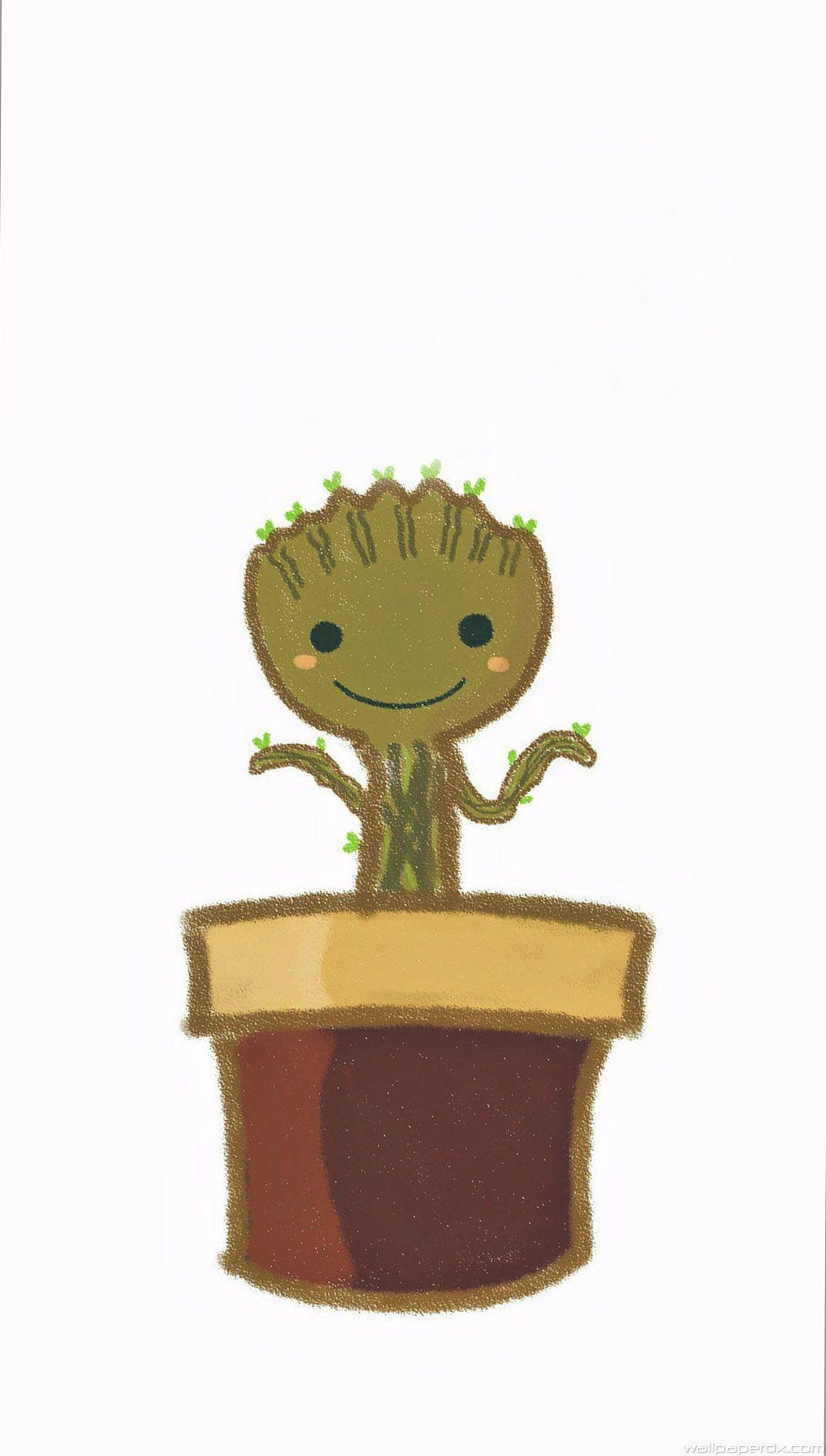 I Am Groot Baby Flower iphone 6 iphone 6 plus full_hd wallpapers
