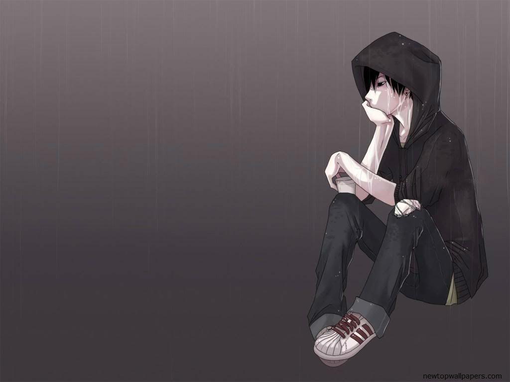 Heartbroken Hoodie Depressed Anime Boy