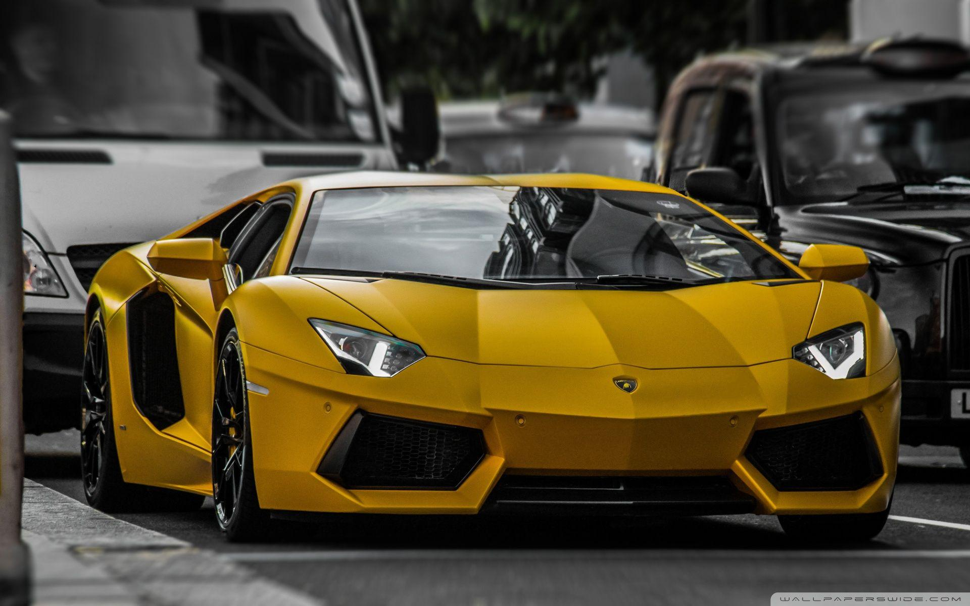 Pack De Wallpaper De Carros Full Hd: Yellow Lamborghini Wallpapers