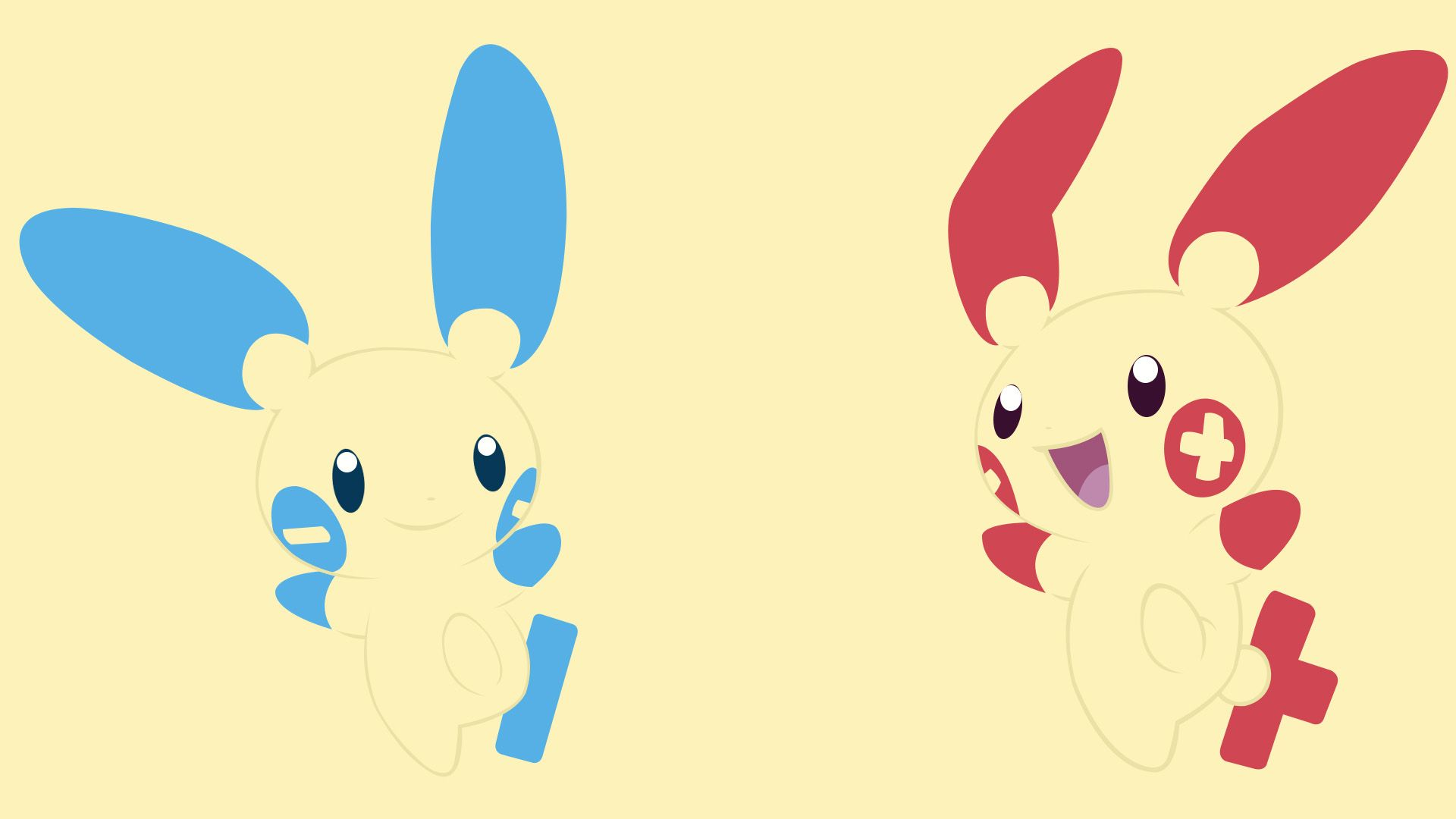 Minun and Plusle Full HD Wallpaper and Background Image | 1920x1080 ...