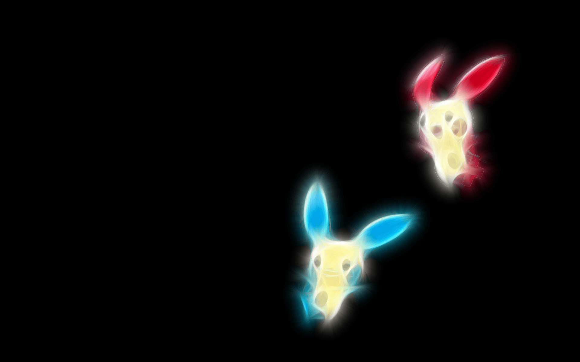 Plusle And Minun - WallDevil