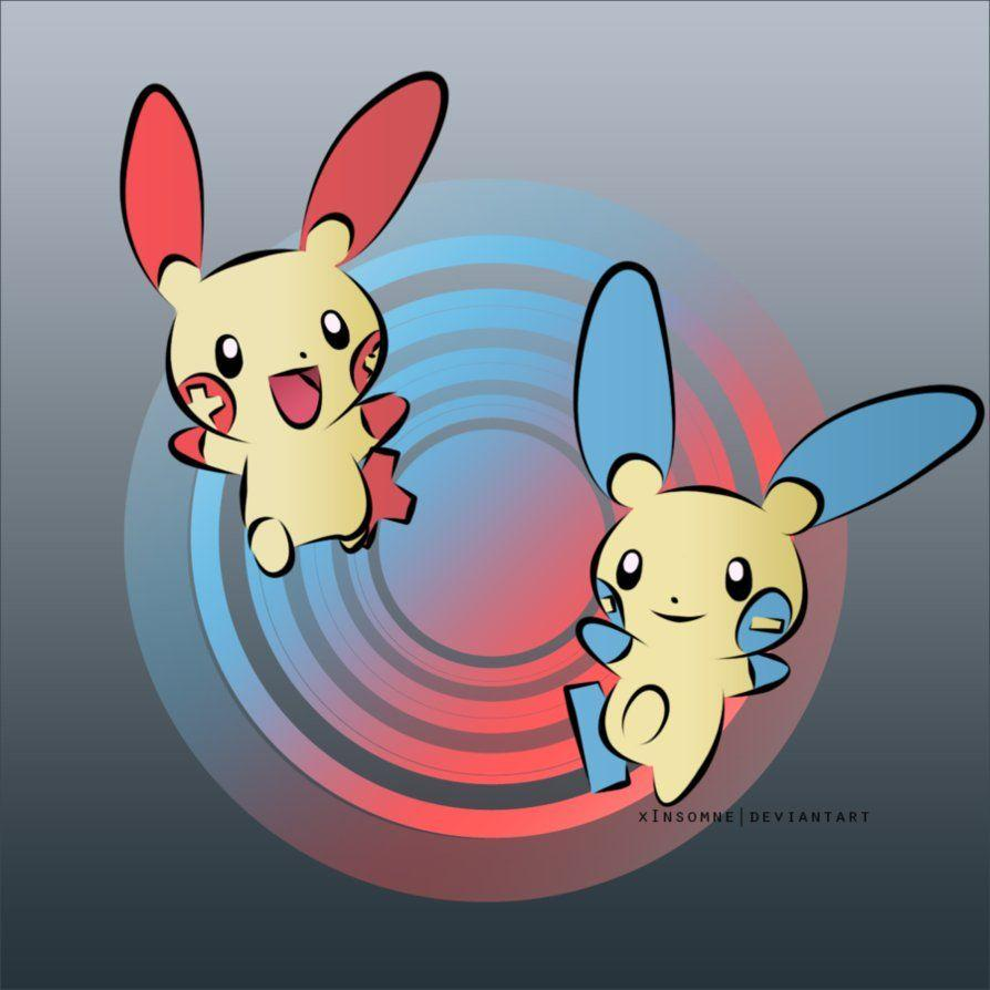 Plusle and Minun | Pokemon ~ by xInsomne on DeviantArt