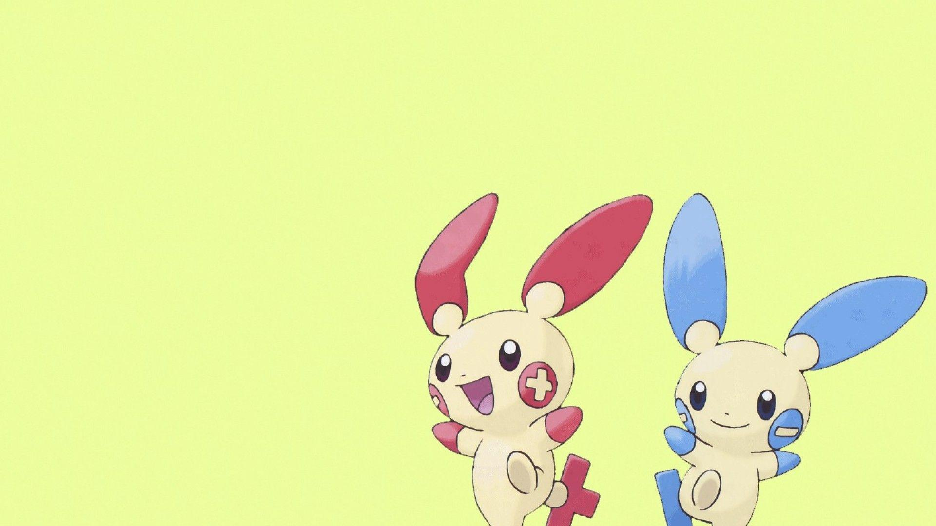 ScreenHeaven: Minum Plusle Pokemon simple backgrounds desktop and