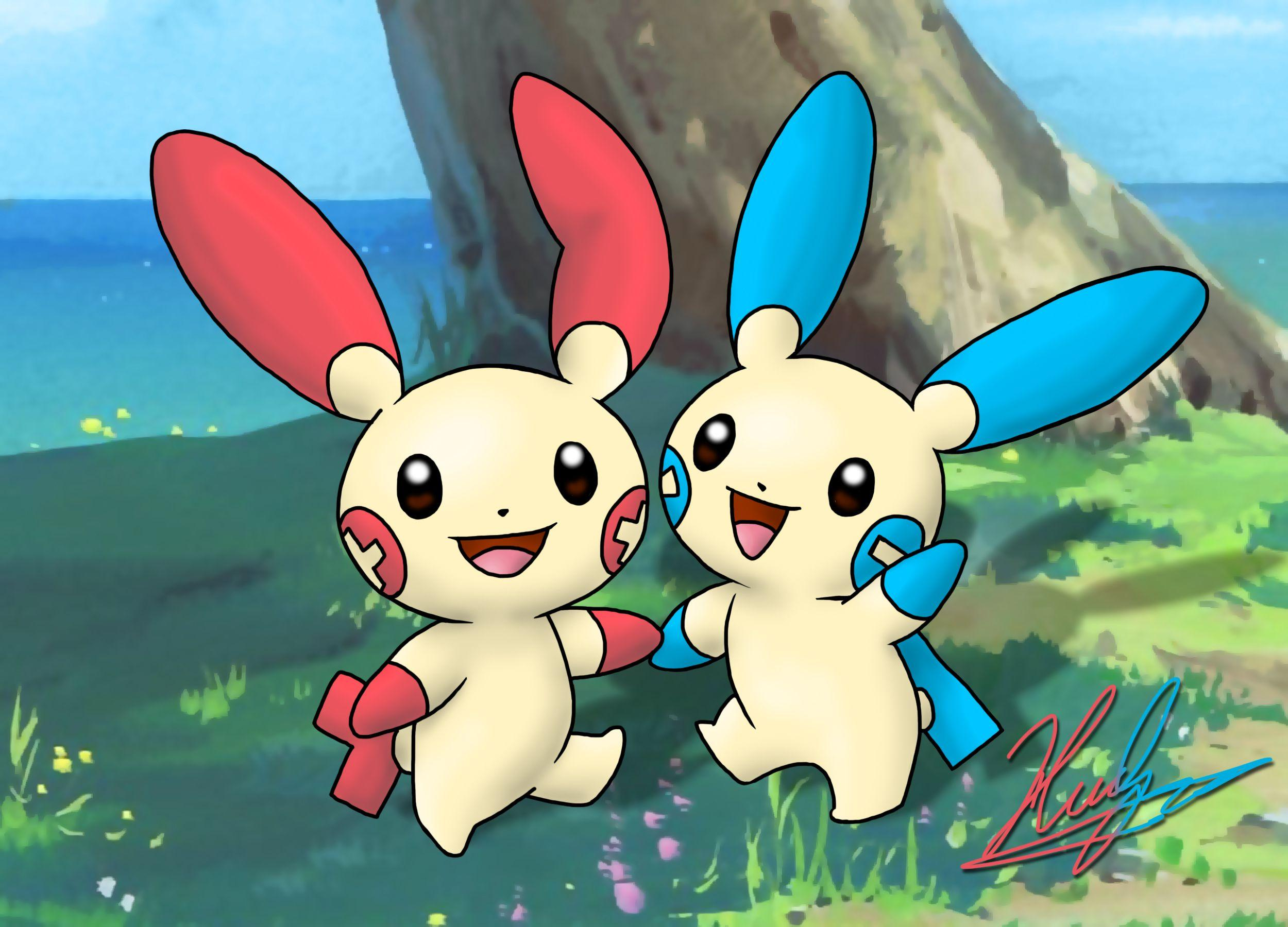 311-312 - Plusle and Minun by neoyurin on DeviantArt