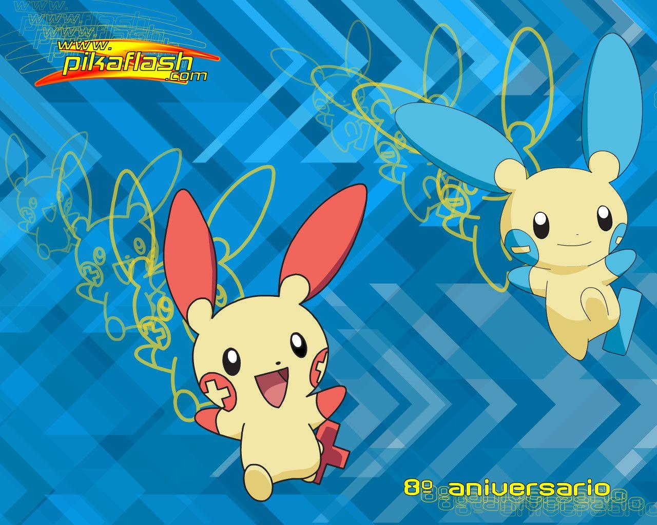 plusle and minun pokemon anime