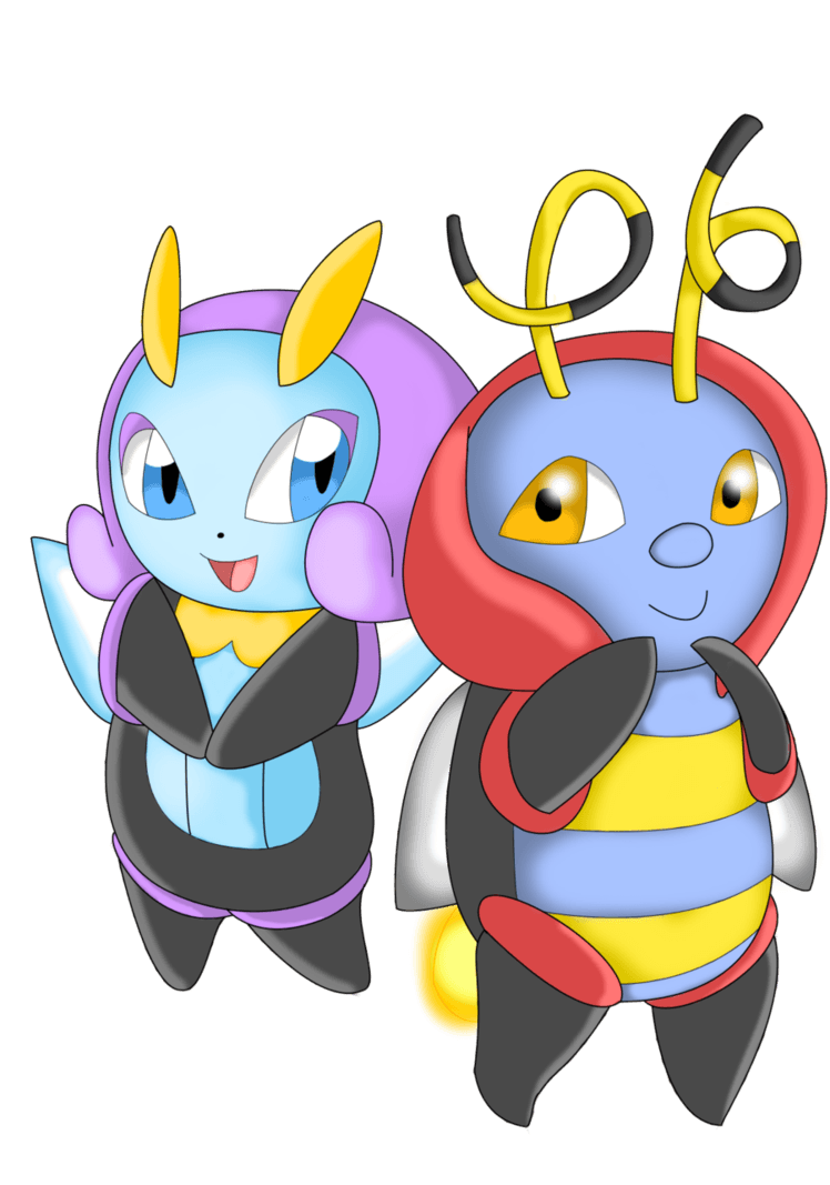 Illumise and Volbeat by NIGHTSandTAILSFAN
