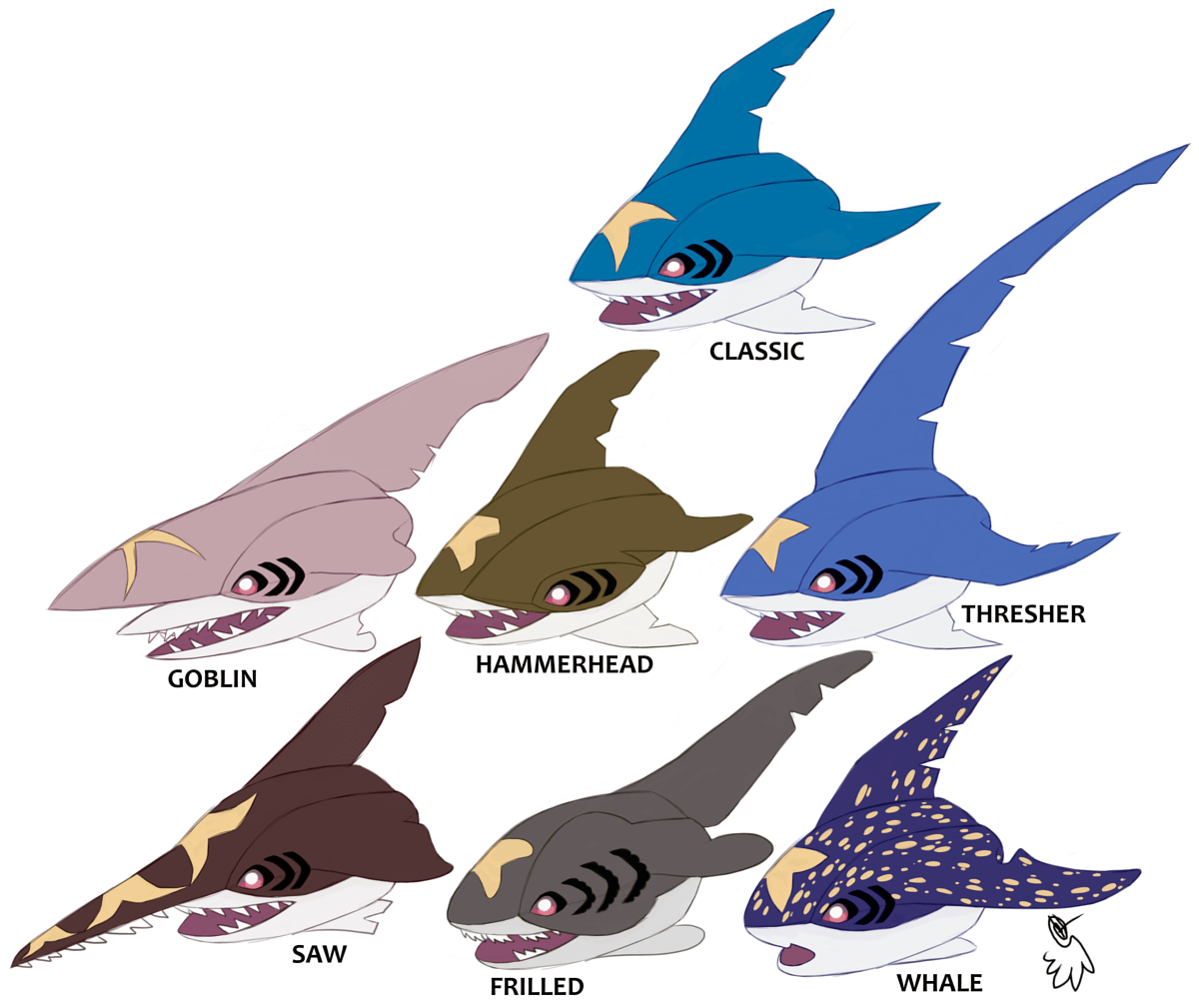 Sharpedo Variations by LucidJello