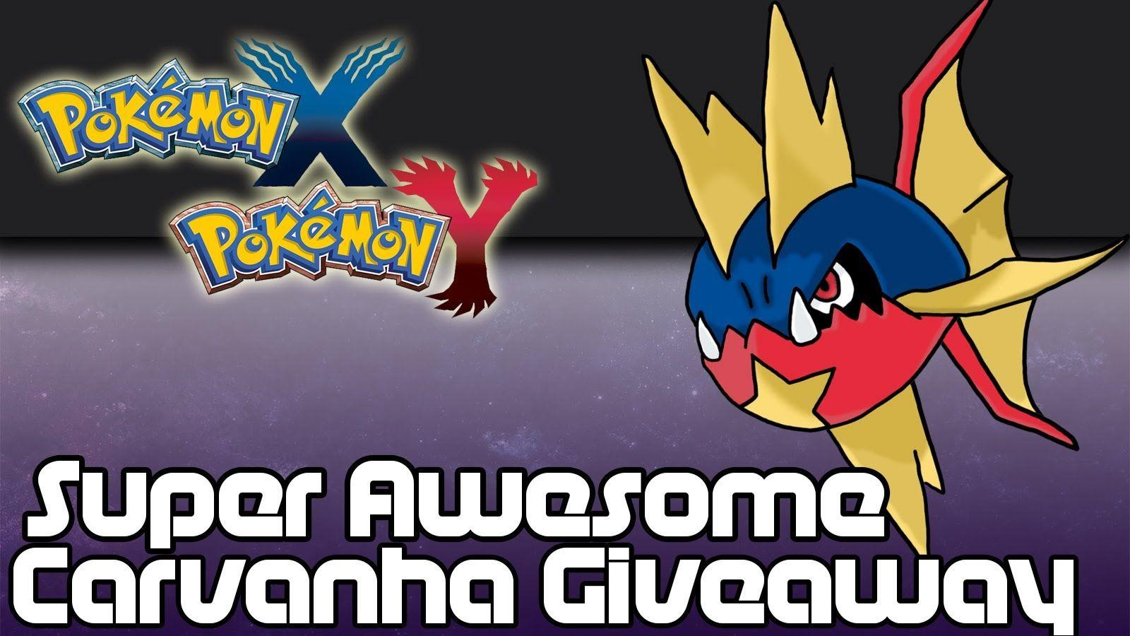 CLOSED] Pokemon X and Y: Speed Boost Carvanha Giveaway! - YouTube