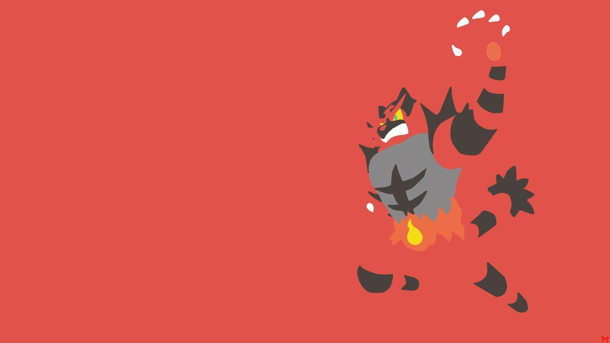 Incineroar Minimalistic Wallpapers by Morshute.deviantart on