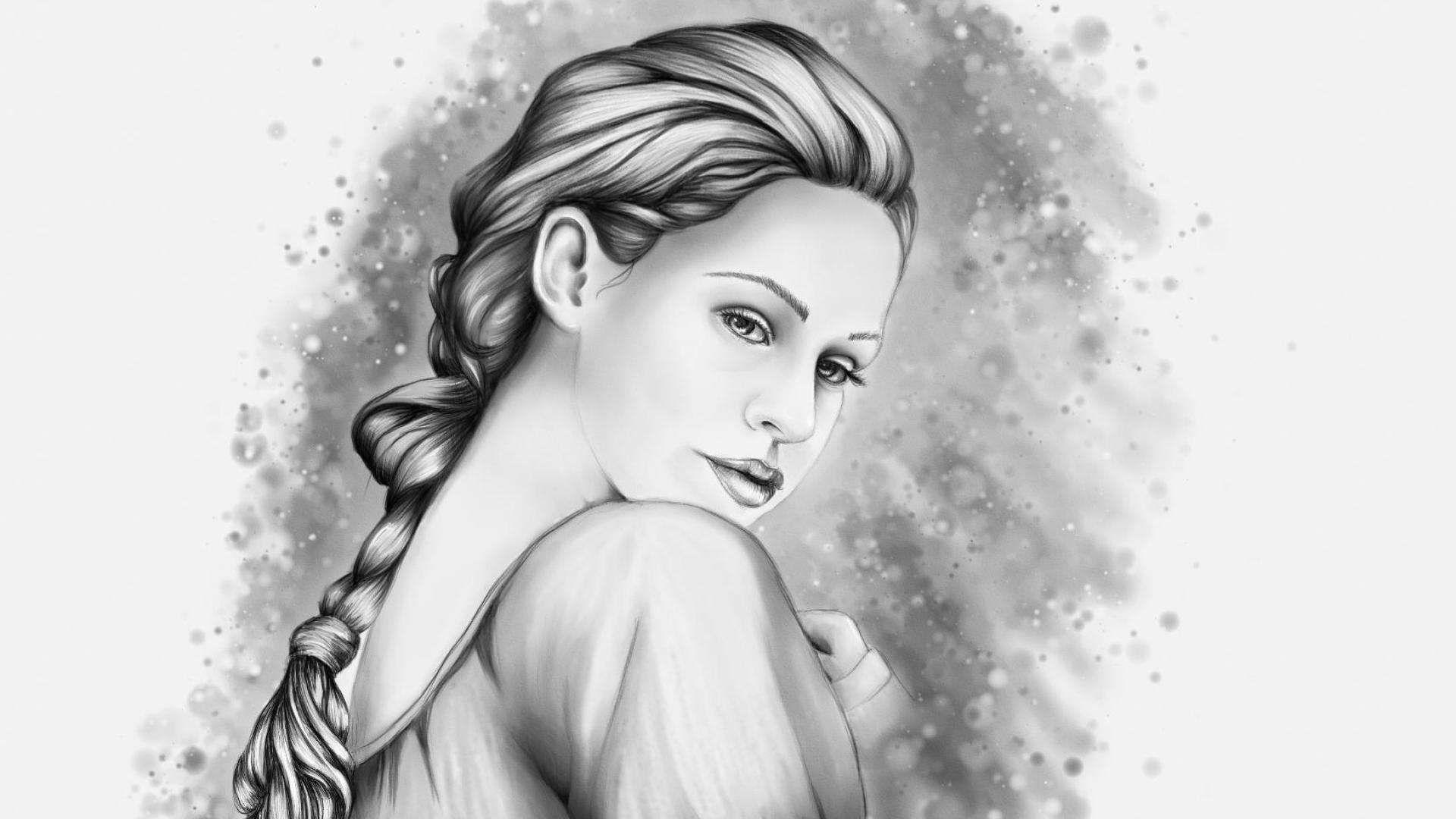 Pencil art wallpaper gallery girl pencil drawing hd wallpapers