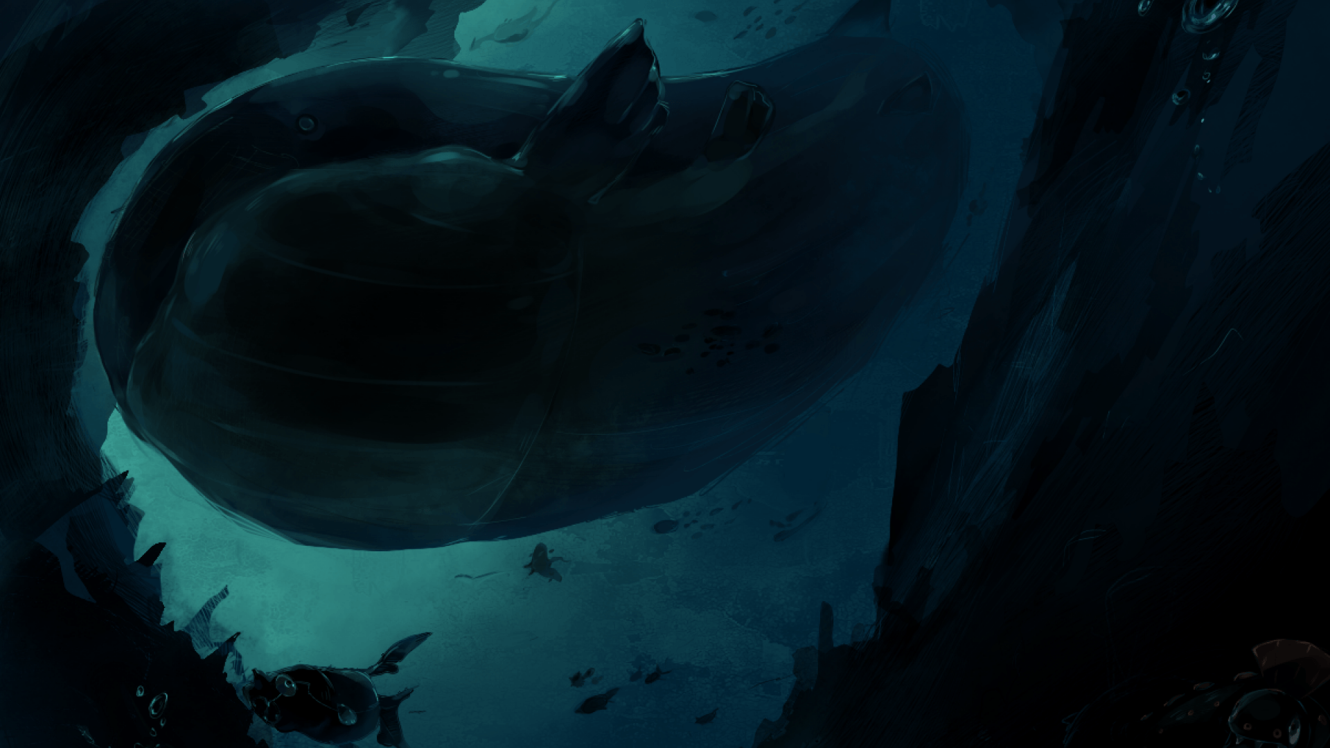 ScreenHeaven: Pokemon Wailord underwater desktop and mobile backgrounds