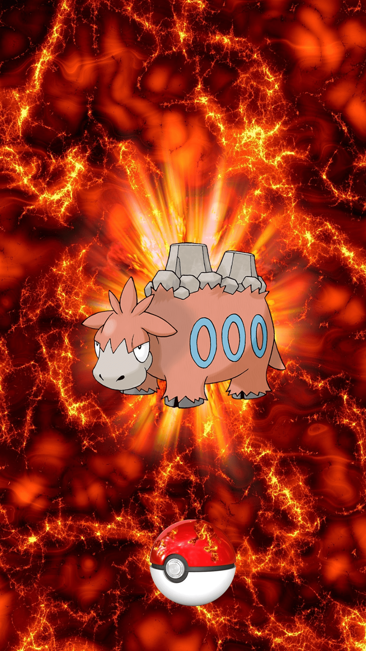 323 Fire Pokeball Camerupt Bakuuda 17 Numel | Wallpaper