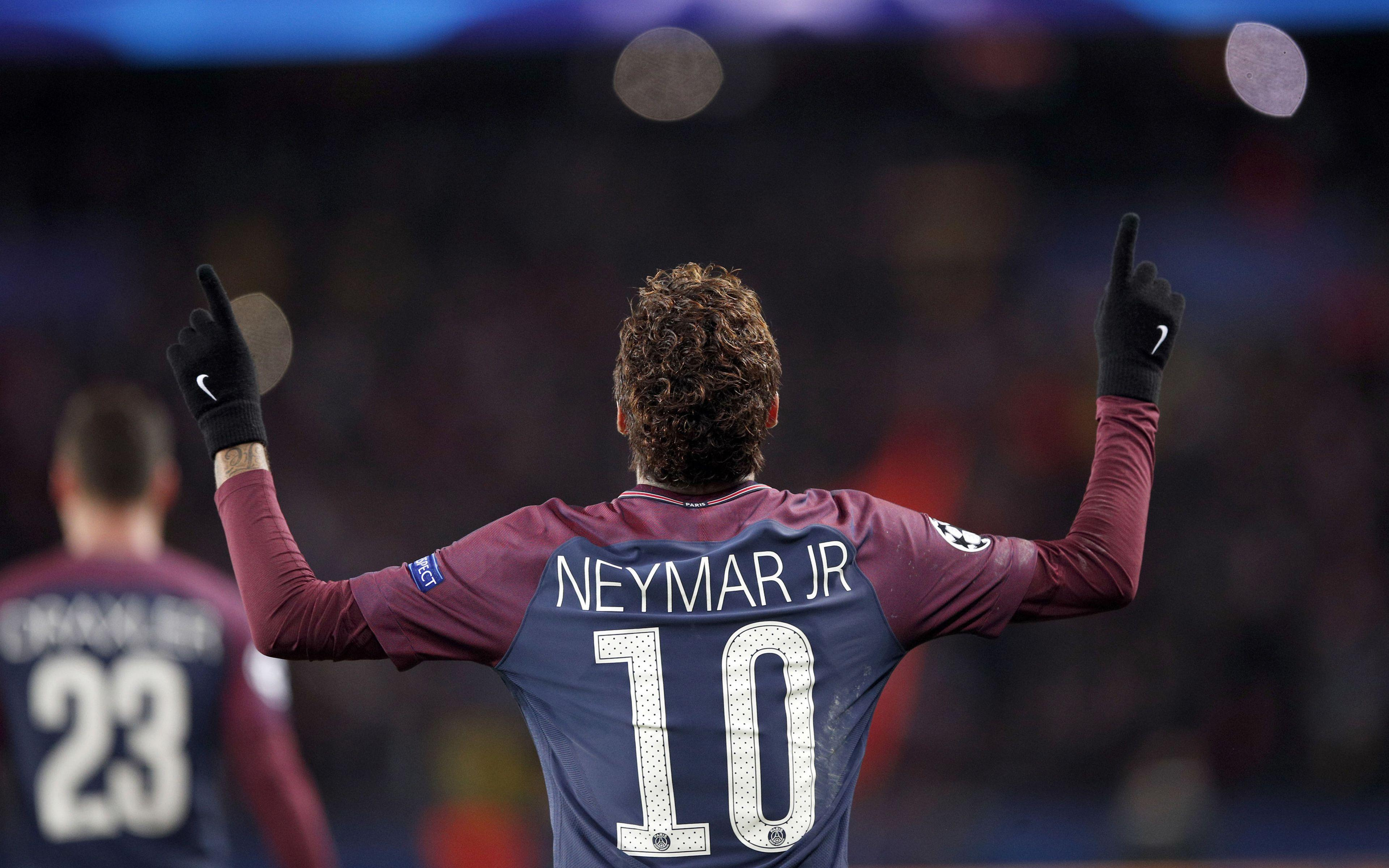 Download wallpapers Neymar, PSG, France, Ligue 1, football, goal
