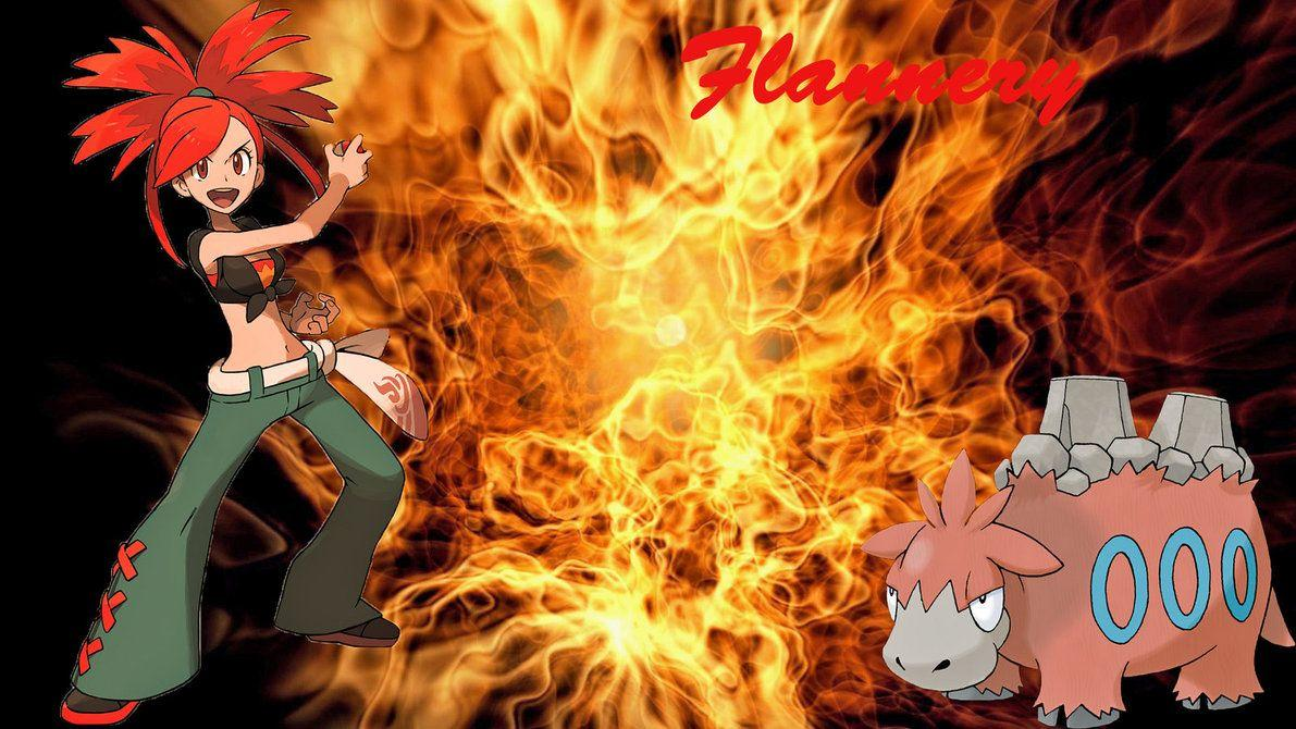 Pokemon Flannery w Camerupt Wallpaper by Hellhound316 on DeviantArt