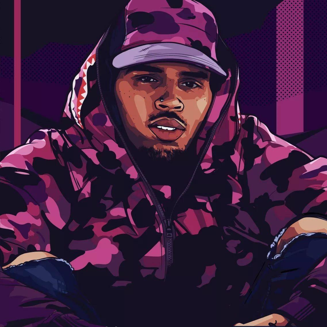 chris brown animated wallpapers wallpaper cave