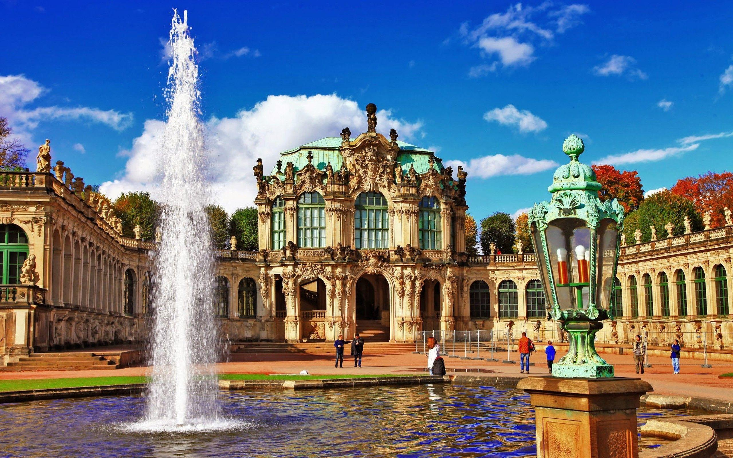 Zwinger Museum in Dresden City Germany Wallpapers