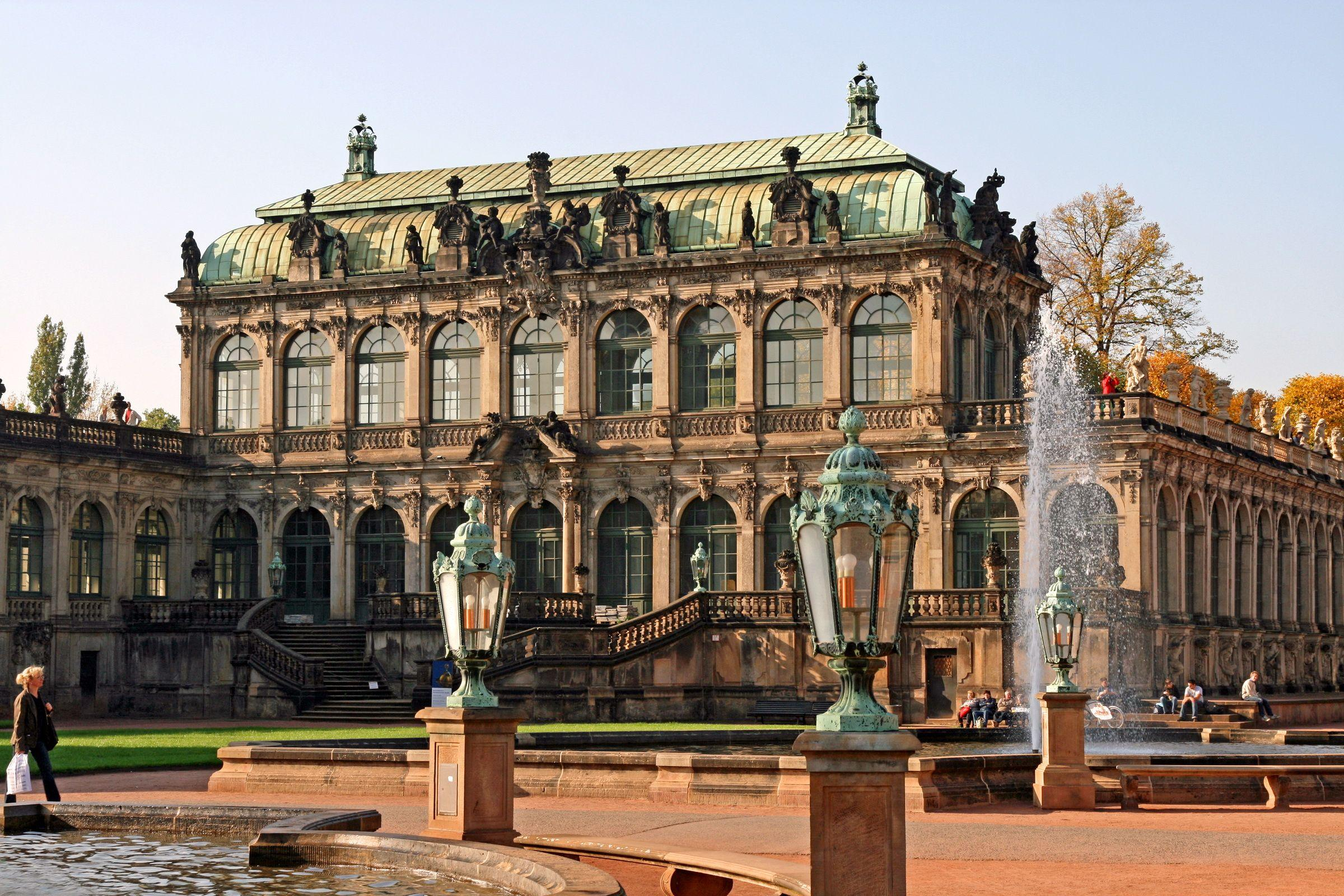 The Zwinger is a palace in Dresden, eastern Germany. Full HD