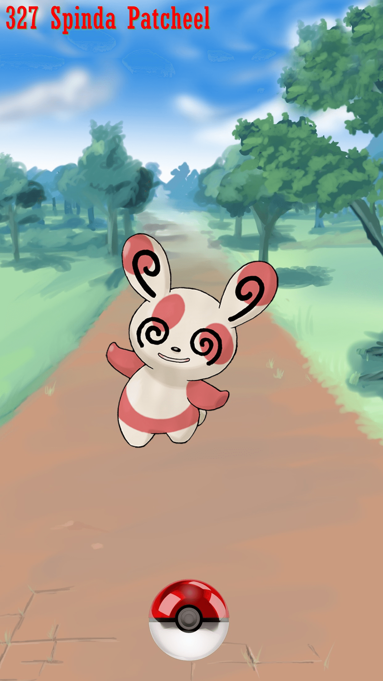 327 Street Pokeball Spinda Patcheel