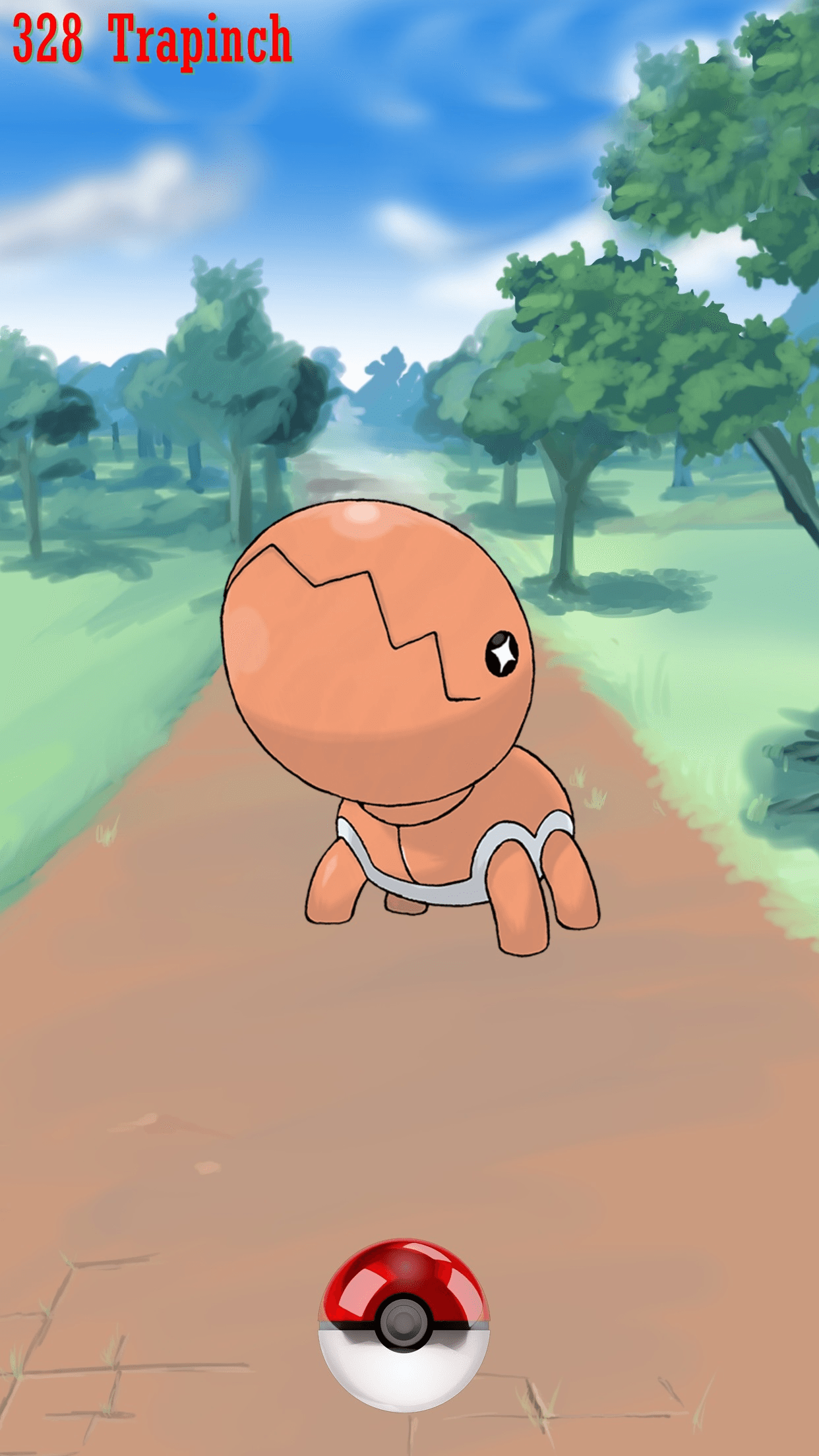 328 Street Pokeball Trapinch | Wallpaper