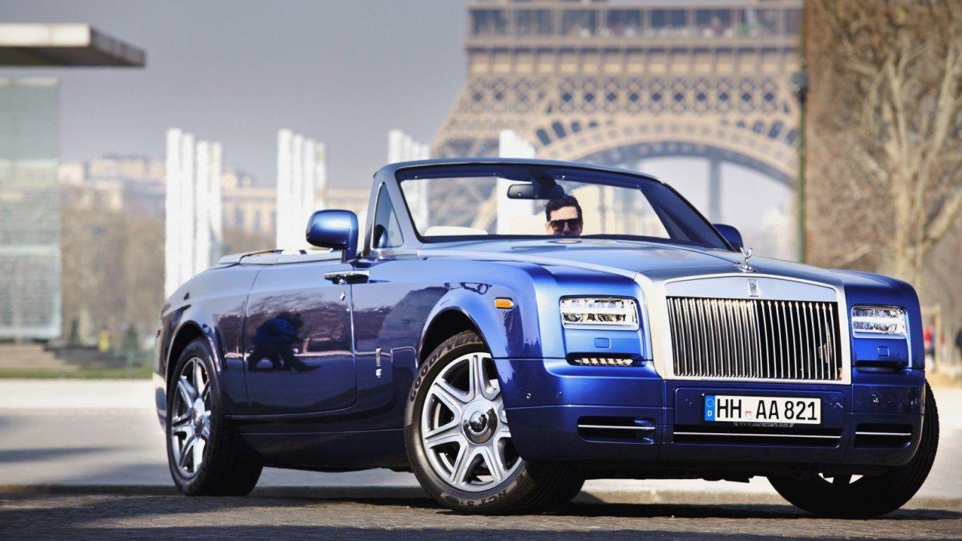 HD Background Rolls Royce Phantom Convertible Dark Blue Front Side ...
