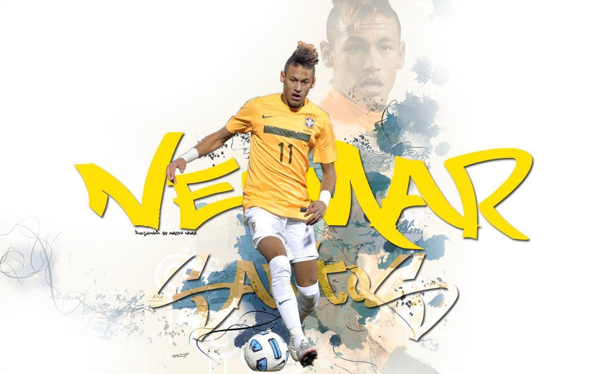 Neymar Background Brazil Flag 2018 ·①