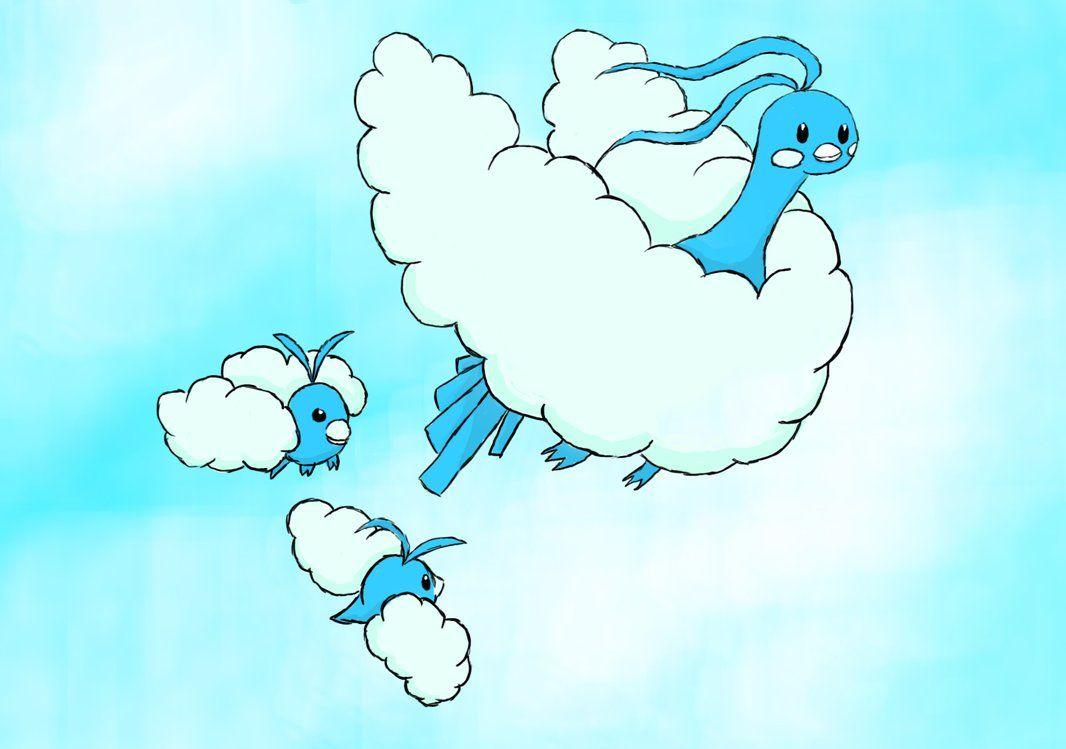 Swablu and Altaria by saraserket on DeviantArt