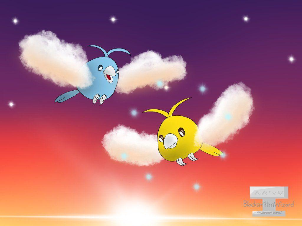 Swablu and Shiny Swablu by BlacksmithnWizard on DeviantArt