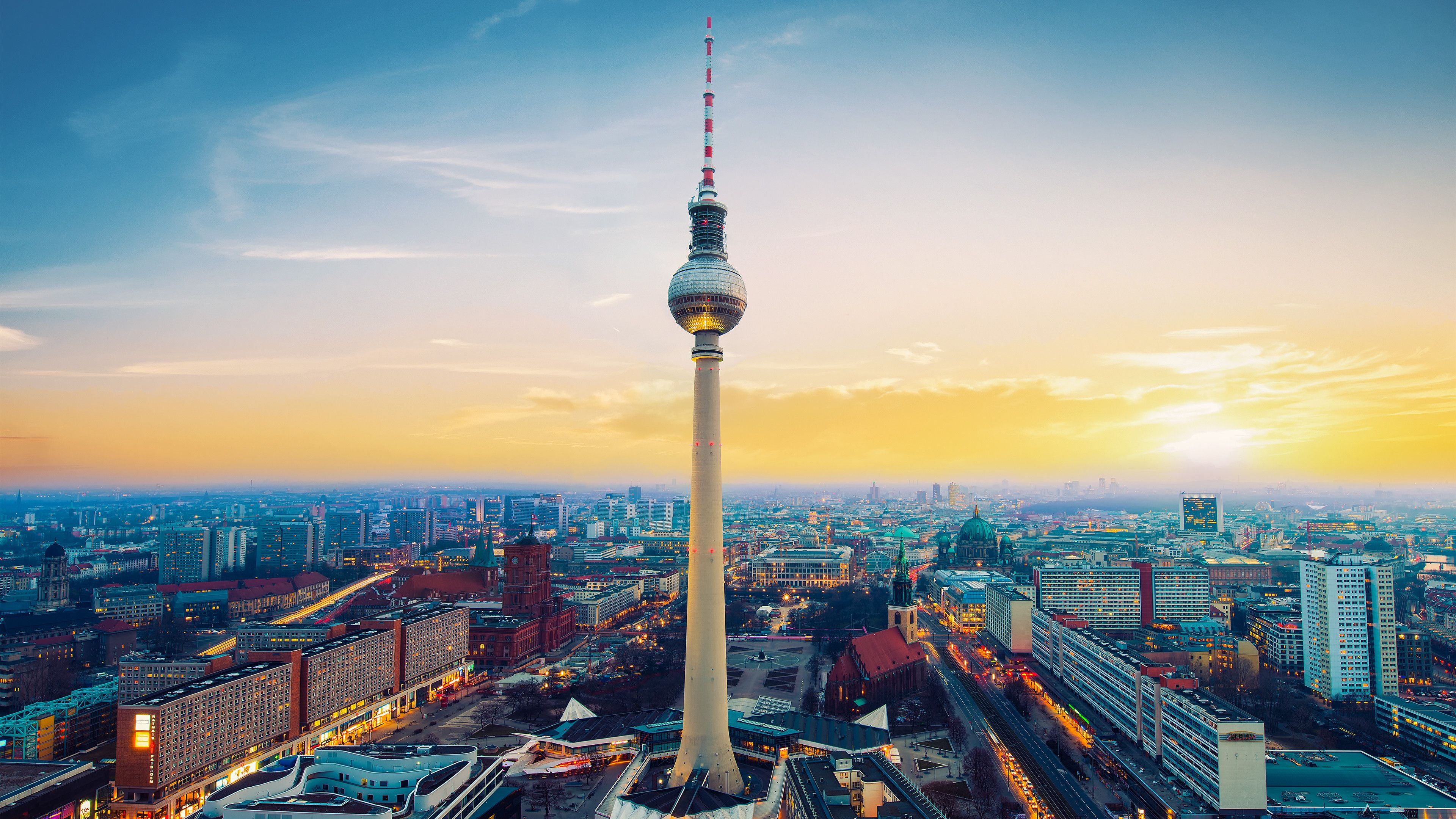 Berlin City View From Top, HD World, 4k Wallpapers, Image