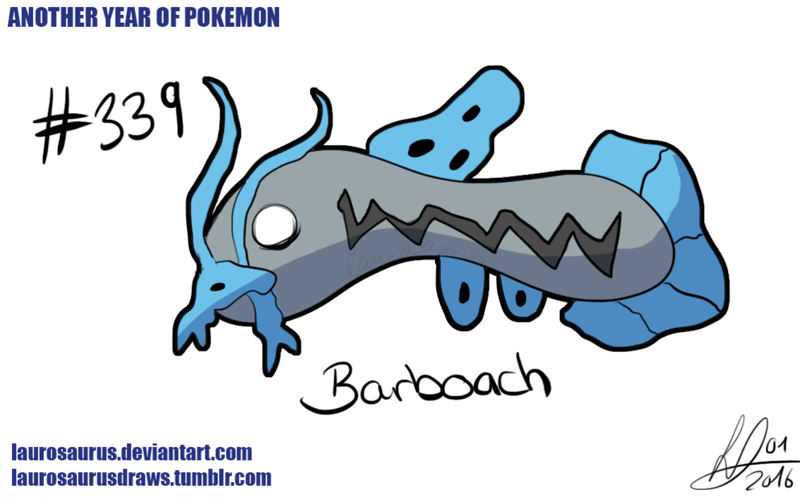 Another year of pokemon: #339 Barboach by Laurosaurus on DeviantArt