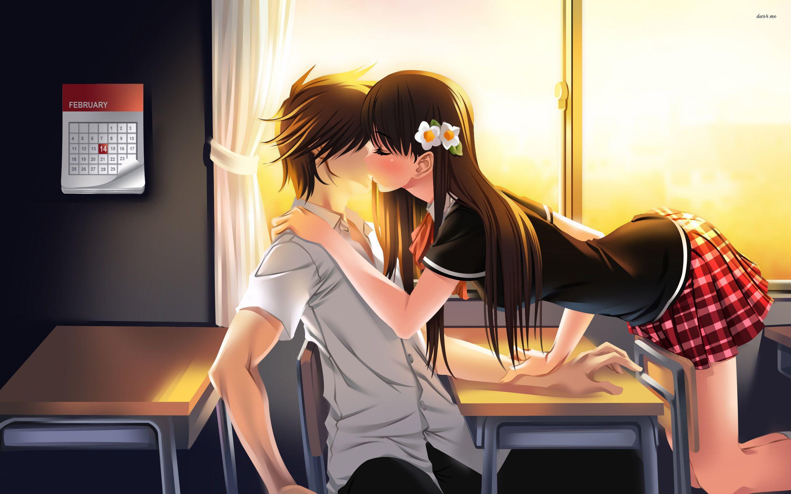 Anime Wallpaper Kiss Wallpapers Home
