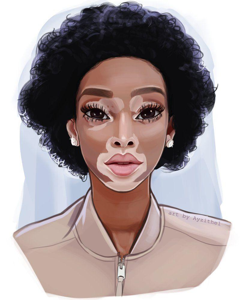 Semi realistic digital portrait of Winnie Harlow by Ayzithell on ...
