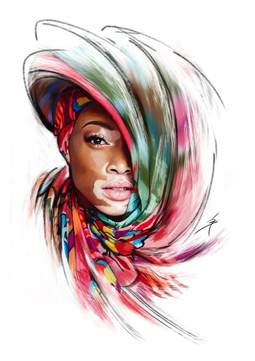 Winnie Harlow Portrait Digital Painting by Artofyasin on DeviantArt