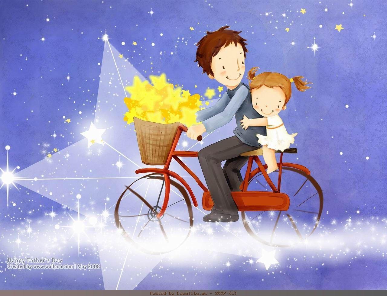 Папа с дочкой картинки для детей