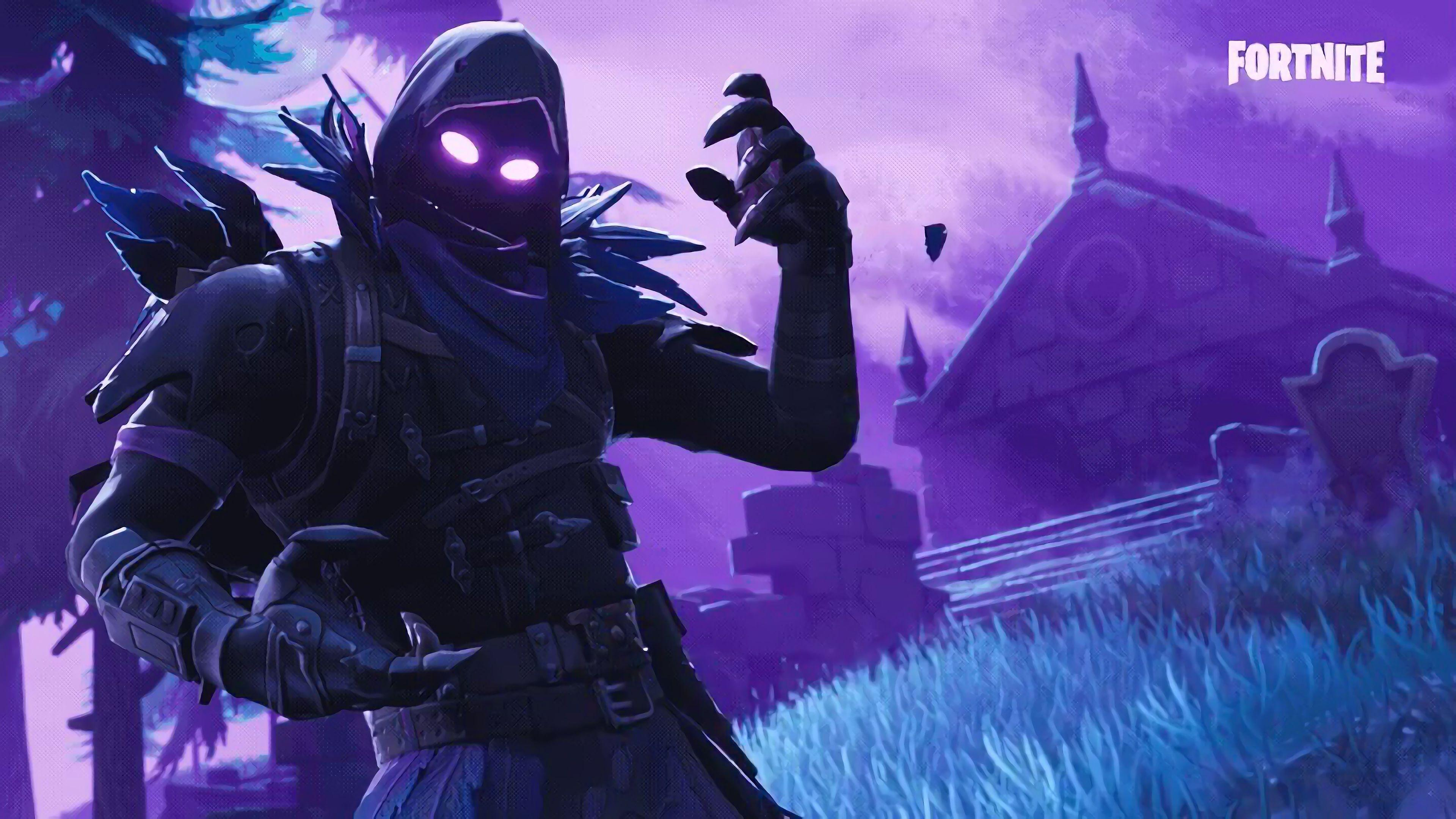 Raven, Fortnite Battle Royale, Video Game, 3840x2160, Wallpapers