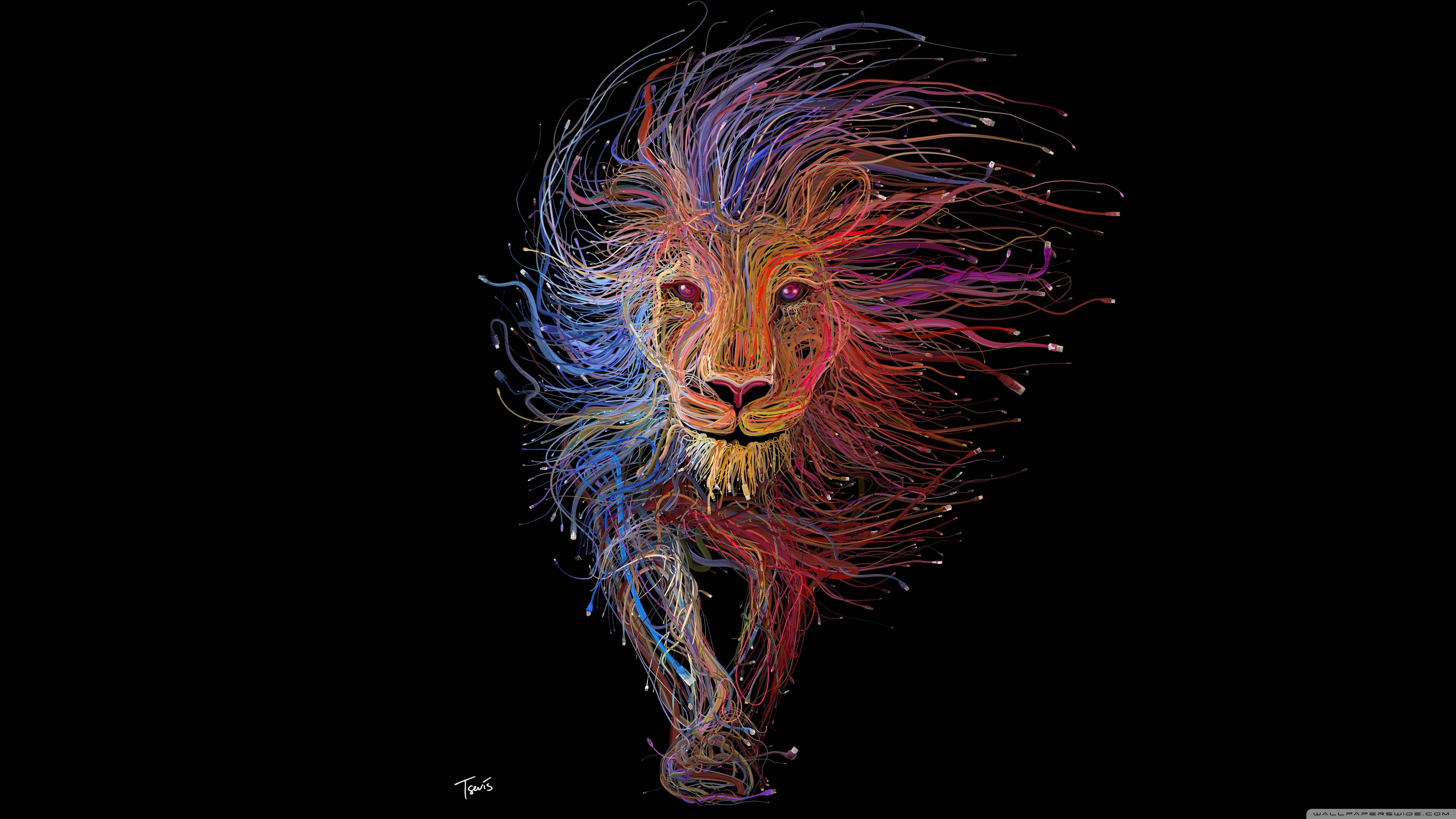 Abstract Lion Wallpapers Wallpaper Cave