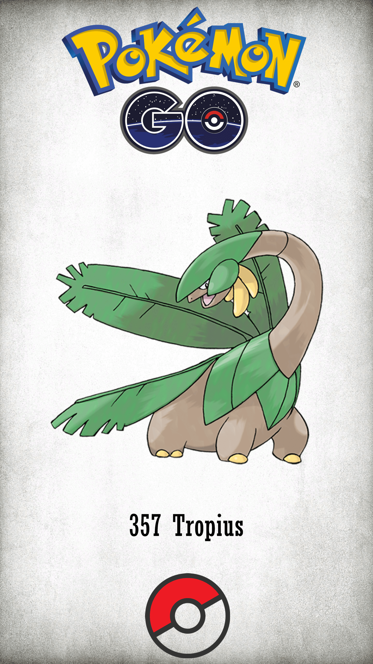 357 Character Tropius | Wallpaper