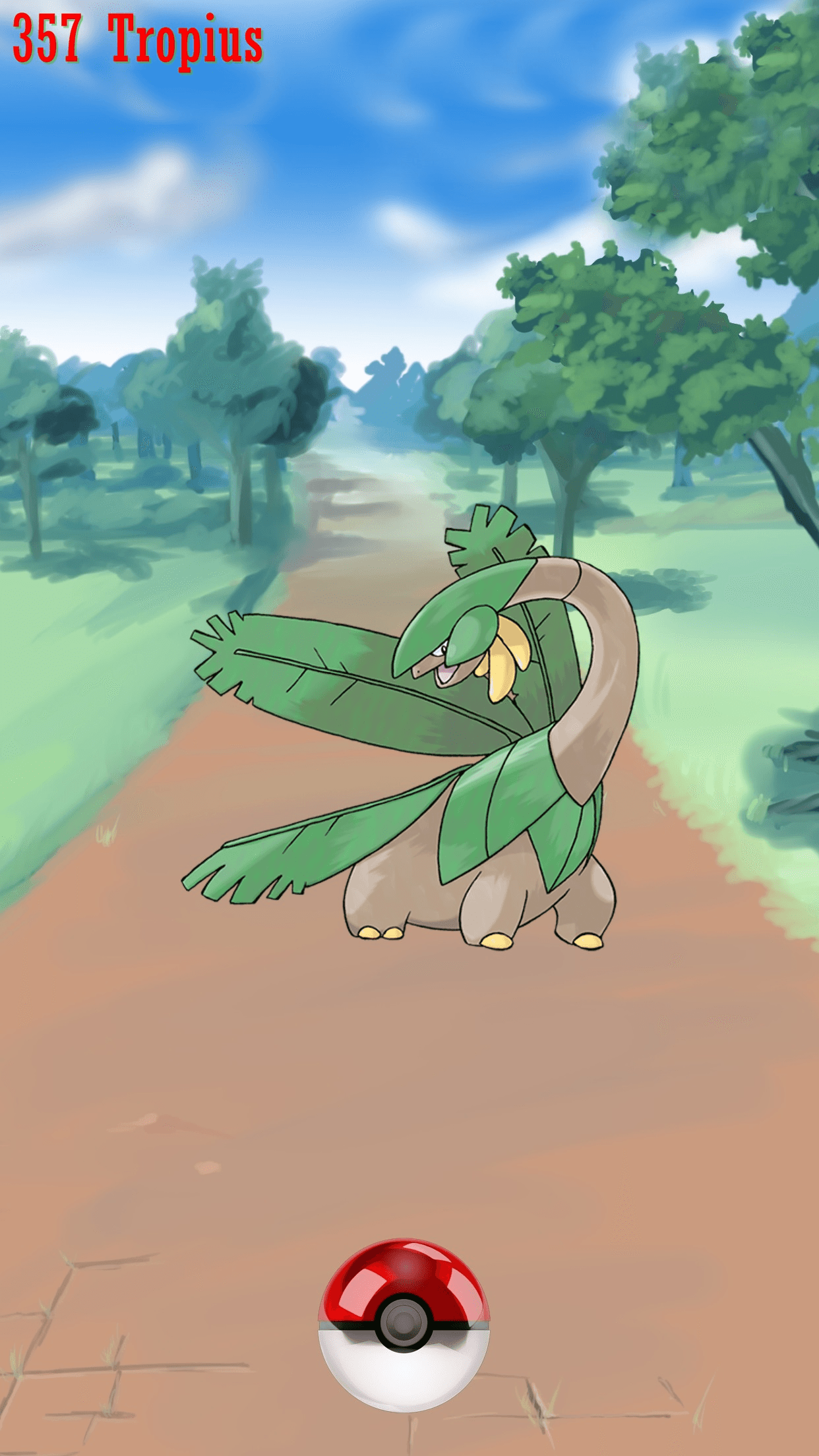 357 Street Pokeball Tropius | Wallpaper