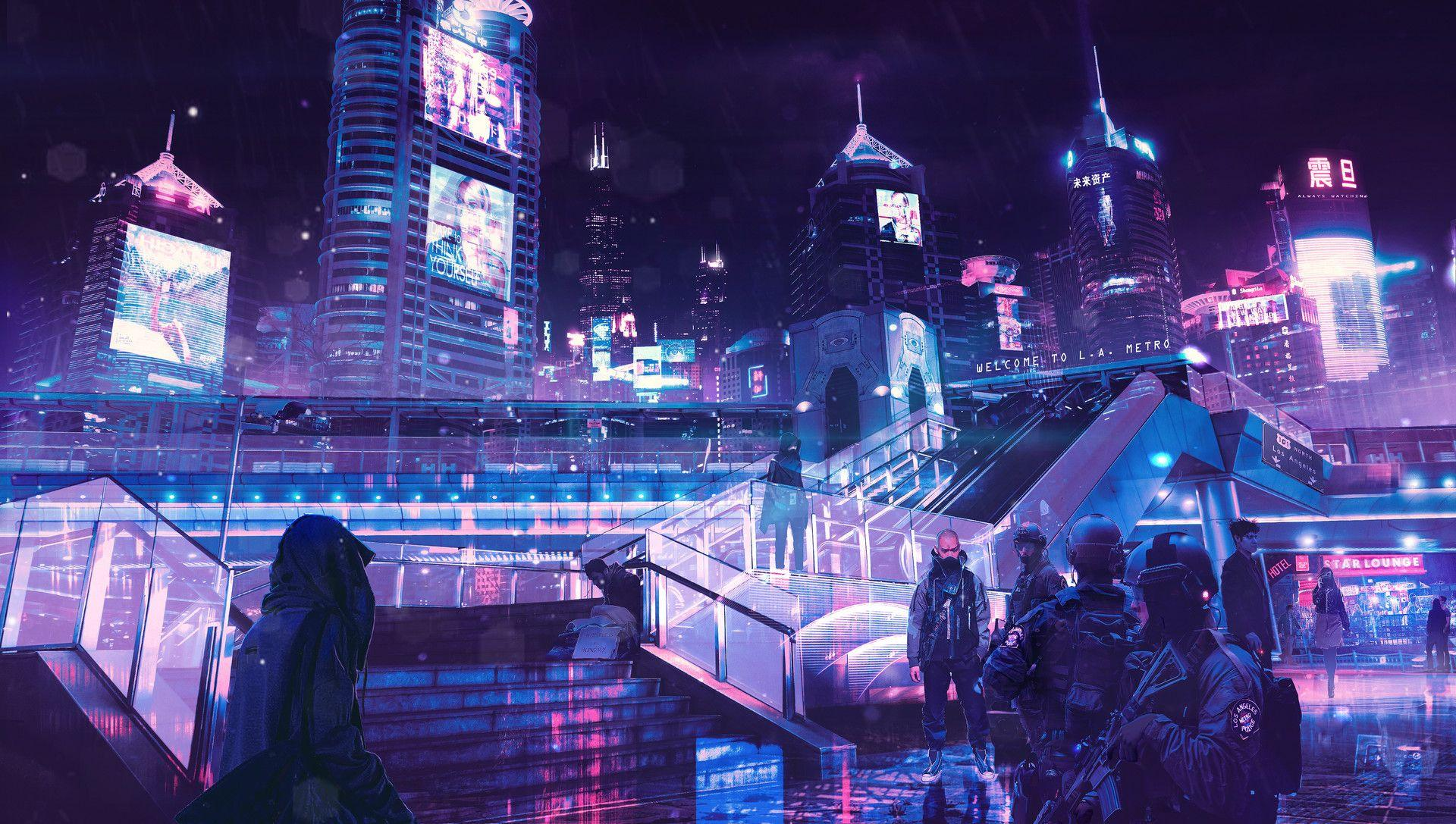 Neon City Wallpapers Wallpaper Cave