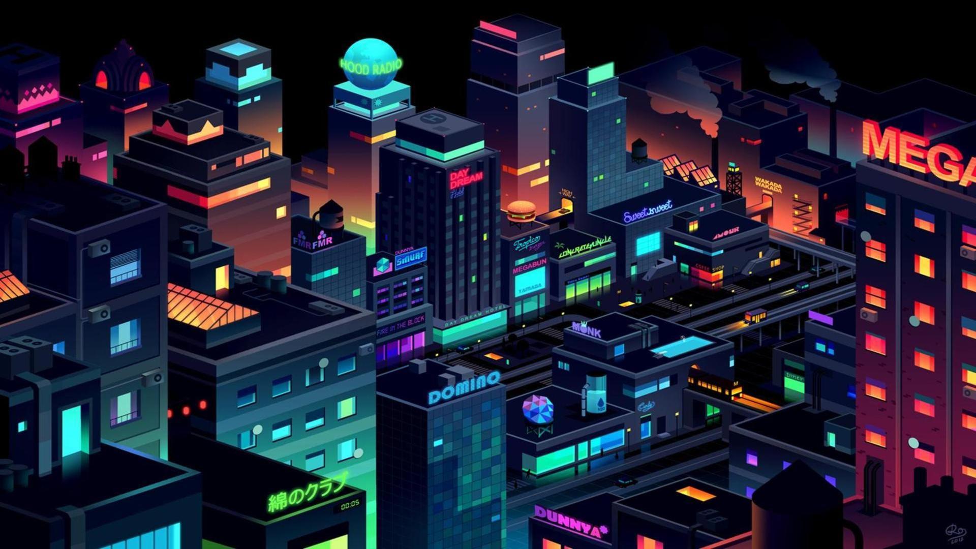 Neon City Wallpapers - Wallpaper Cave