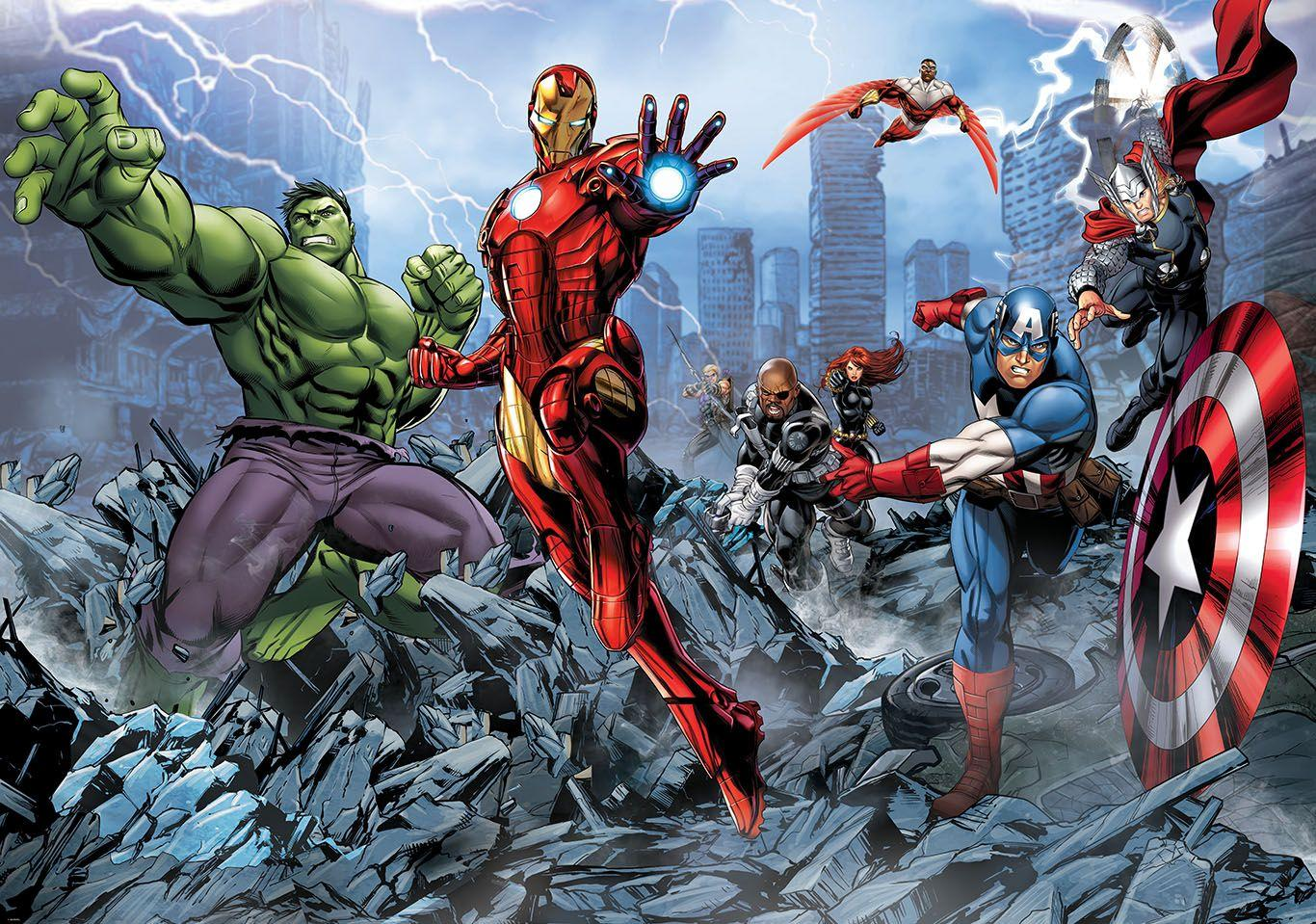 Avengers Cartoon Wallpapers Wallpaper Cave