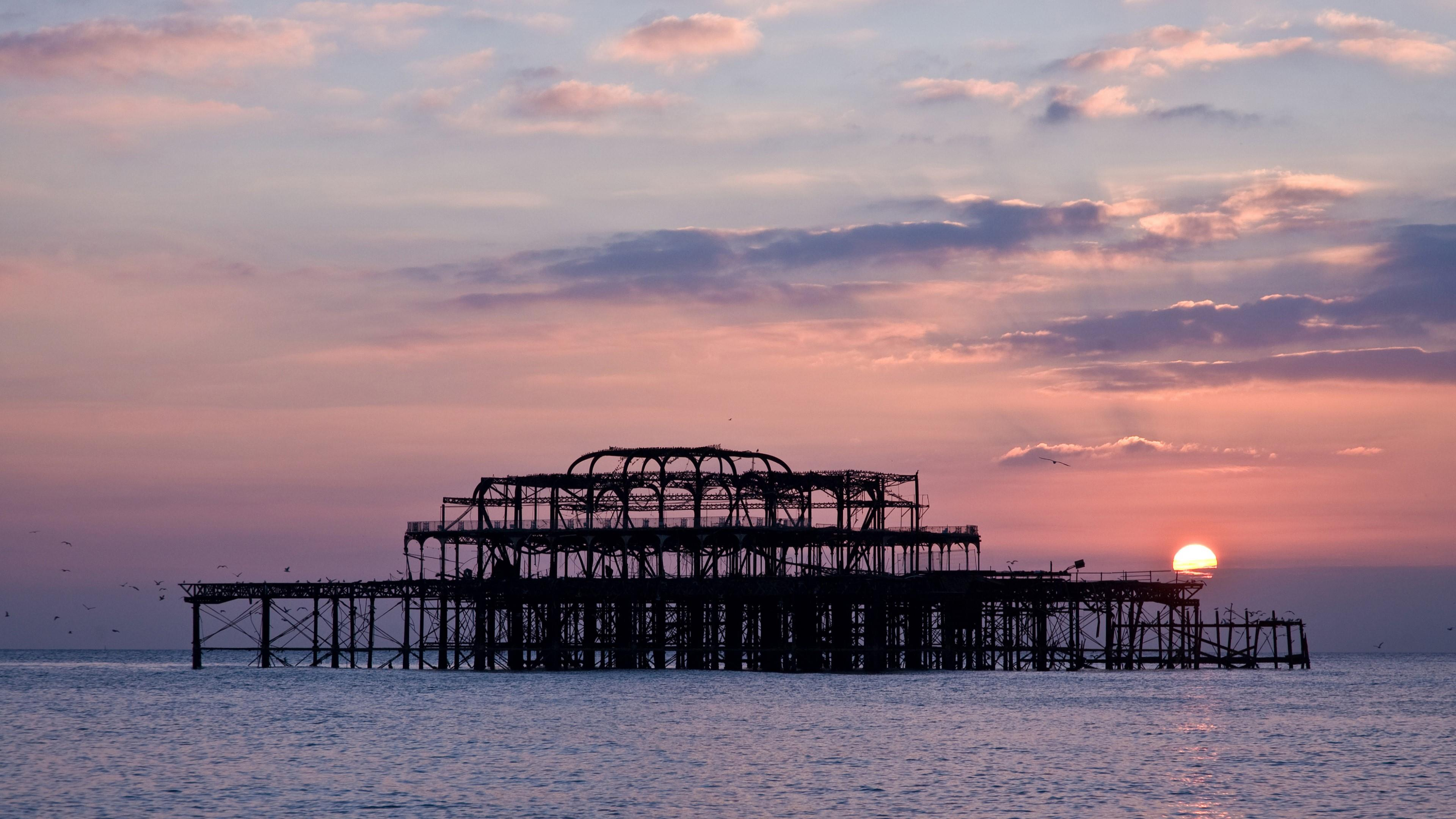 West Pier In Brighton, England Wallpapers