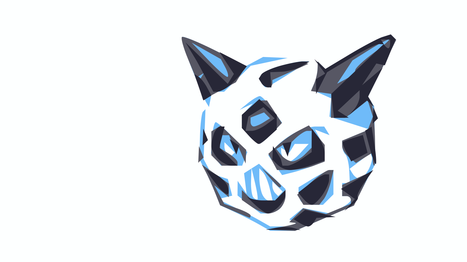 I made a simple wallpaper from Glalie's original sprite : pokemon