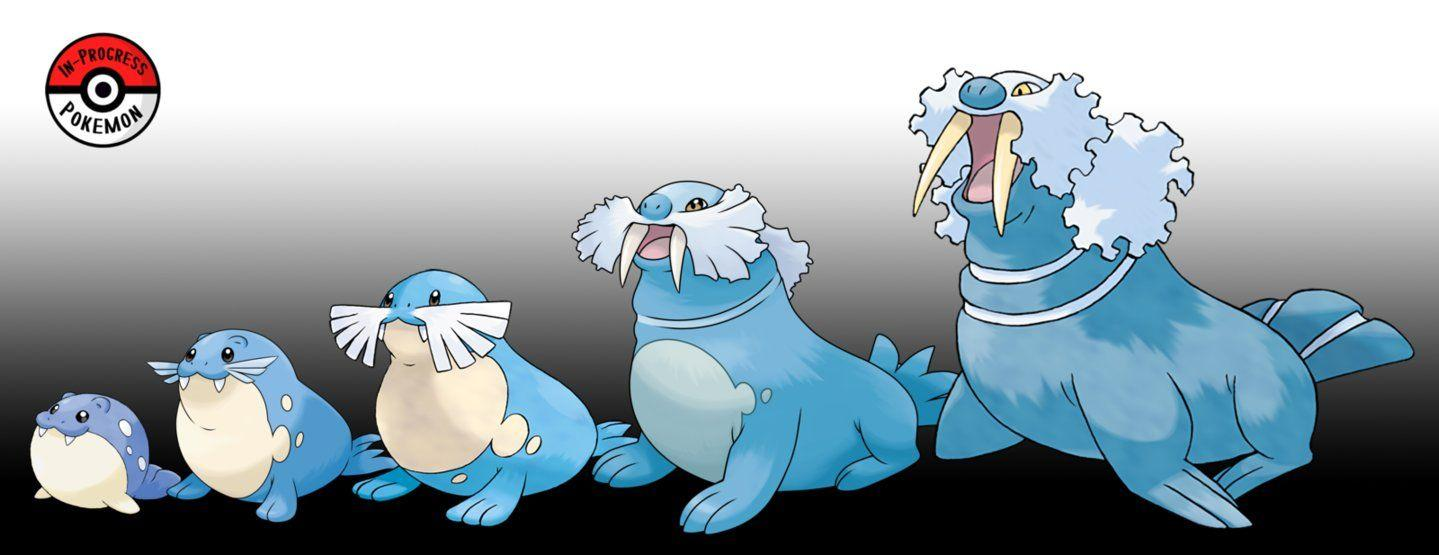363 - 365 Spheal Line by InProgressPokemon on DeviantArt