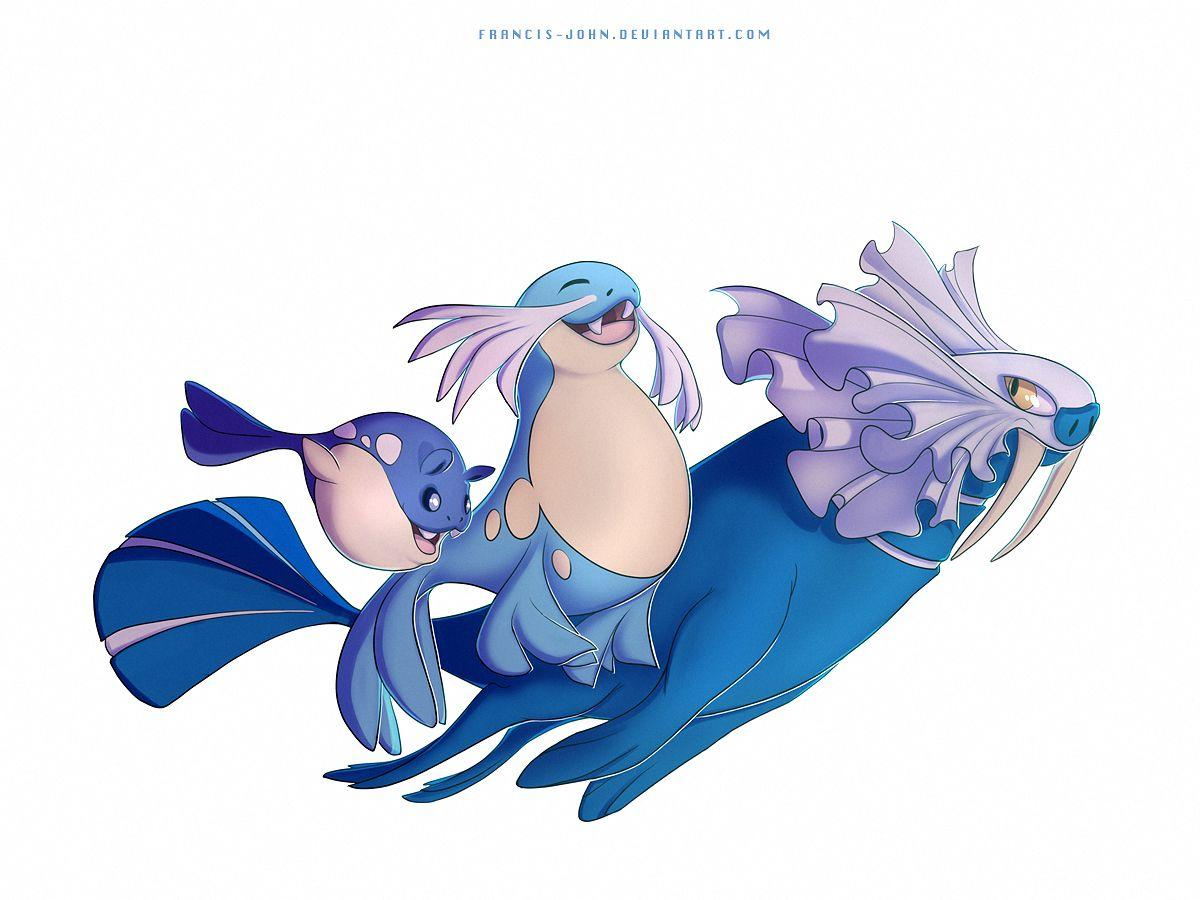 Spheal Sealeo and Walrein by francis