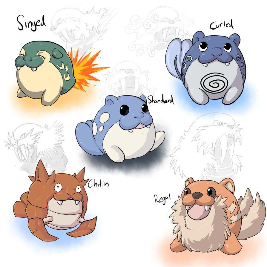 Spheal crossbreed/variants by KageZeo
