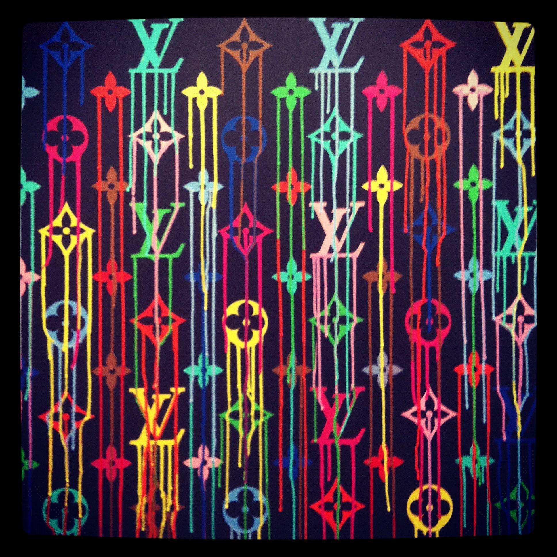 Aesthetic Louis Vuitton Neon Wallpapers Wallpaper Cave