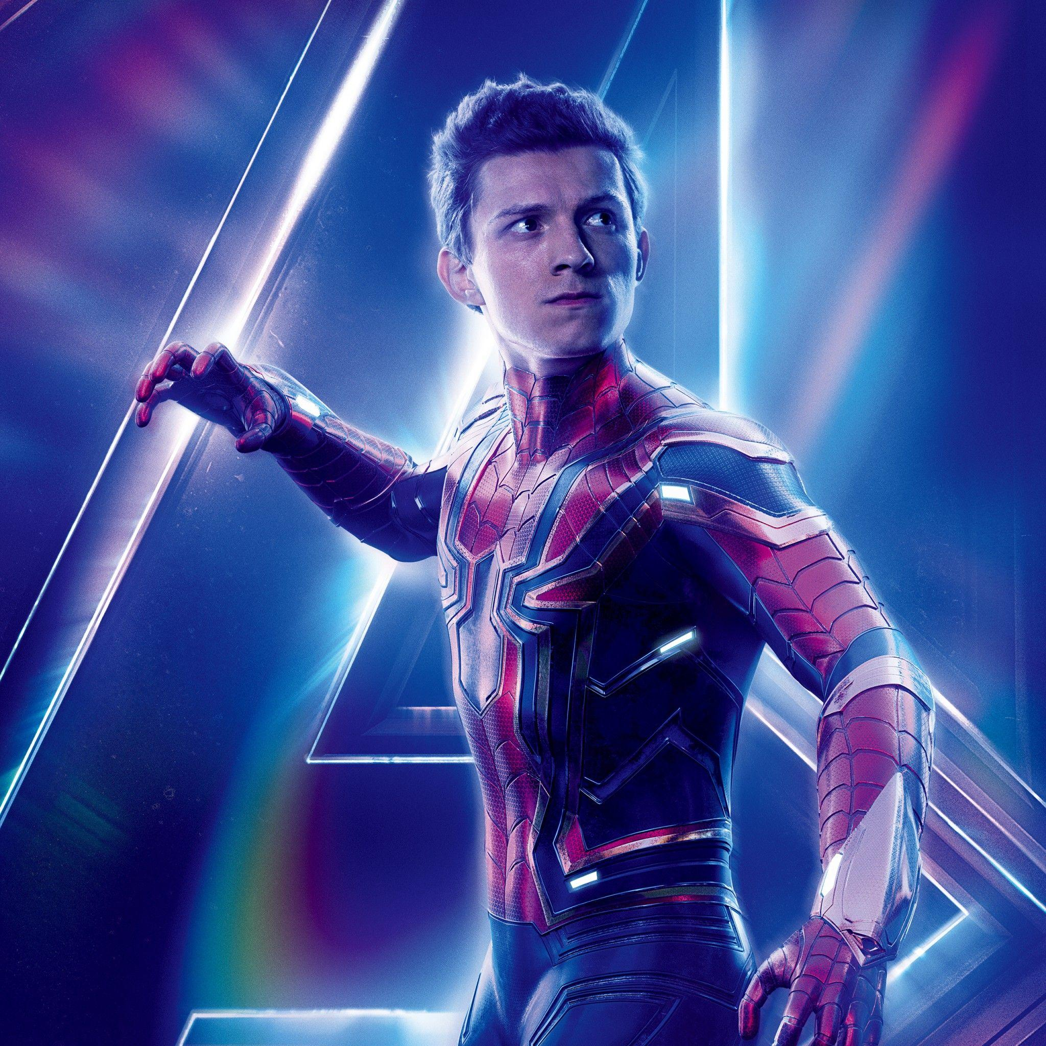 Tom Holland as Spider Man Avengers Infinity War 4K 8K Wallpapers
