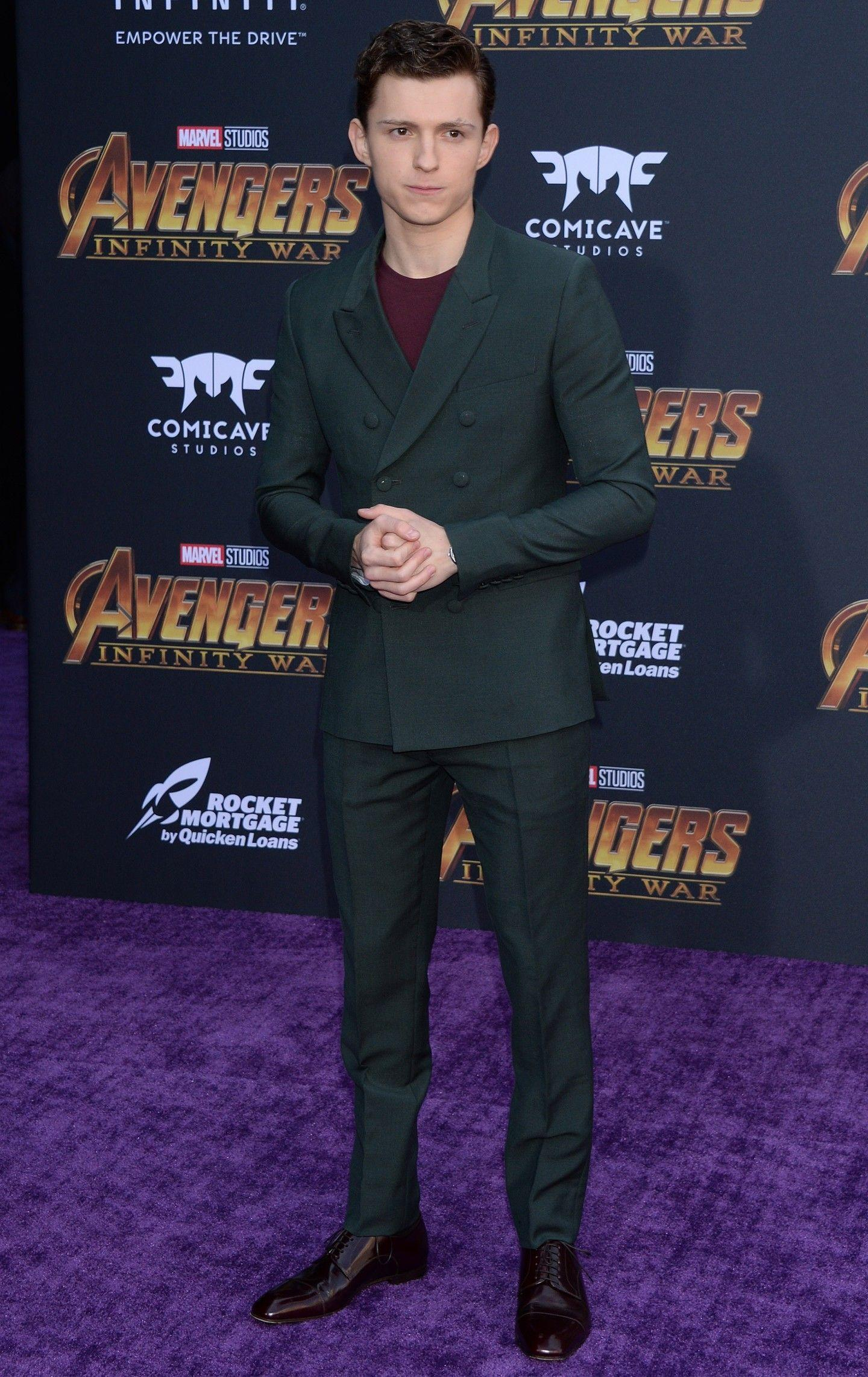 Tom Holland At Disney and Marvel's Avengers Infinity War Premiere